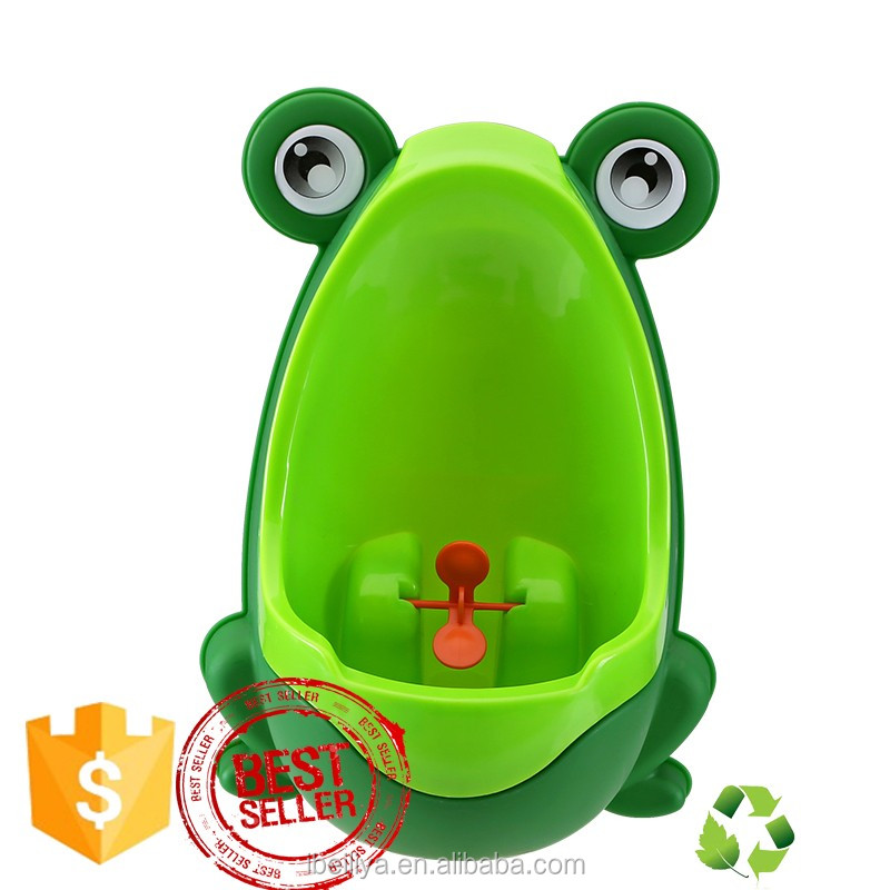 Frog urinal boy toliet trainning plastic baby potty suck or hang on the wall