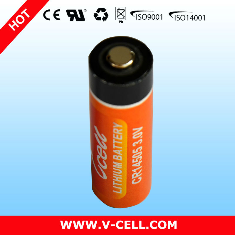 3V 2000mAh AA CR14505H small lithium battery