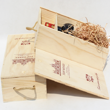 Sliding lid wooden wine packing box