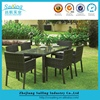 Patio Garden Aluminum Classic Rattan Dining Table Set