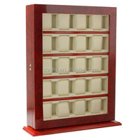 Wooden Floor Stand Watch Display Cabinet for 20 Watches