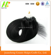 Hot selling 100% brazilain remy humam hair 1g/strand cheap brazilian micro ring loop hair extensions silky straight wave