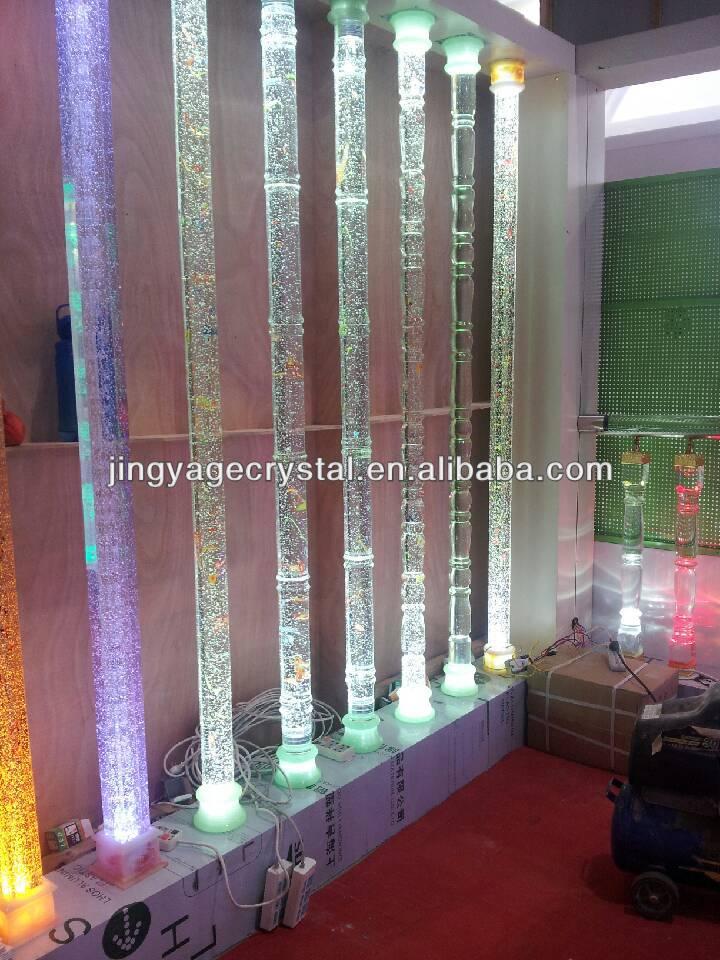 Round Glass Bubble Pillars For Interior Decoration