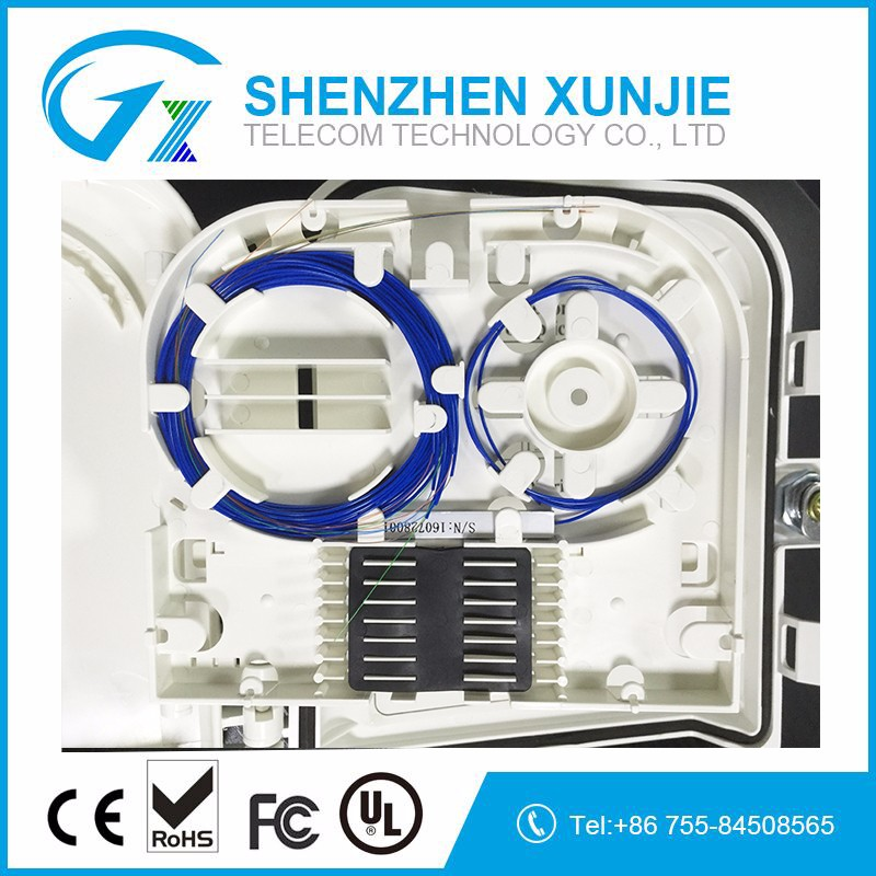 FTTH fiber optic termination box 8 Port Distribution box Outdoor Waterproof FTTH Mini 8 Port Fiber Optic Termination Box