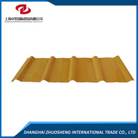 Color Zinc Coated Corrugated Steel Roofing
