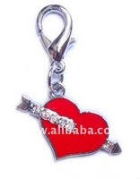 Cross my Heart Enamel Pet Charm