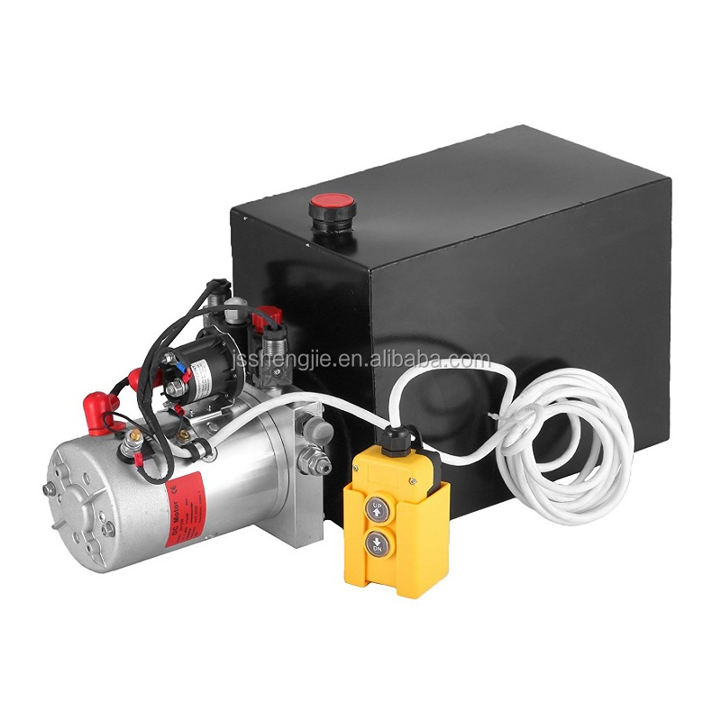 24V <strong>2</strong>.2KW Dump truck hydraulic system, <strong>2</strong> meters cable remote control hydraulic power units