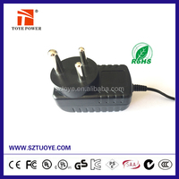 Wall-Mount Type Single Output AC DC Adapter 16V 1000mA South Africa Plug Adapter