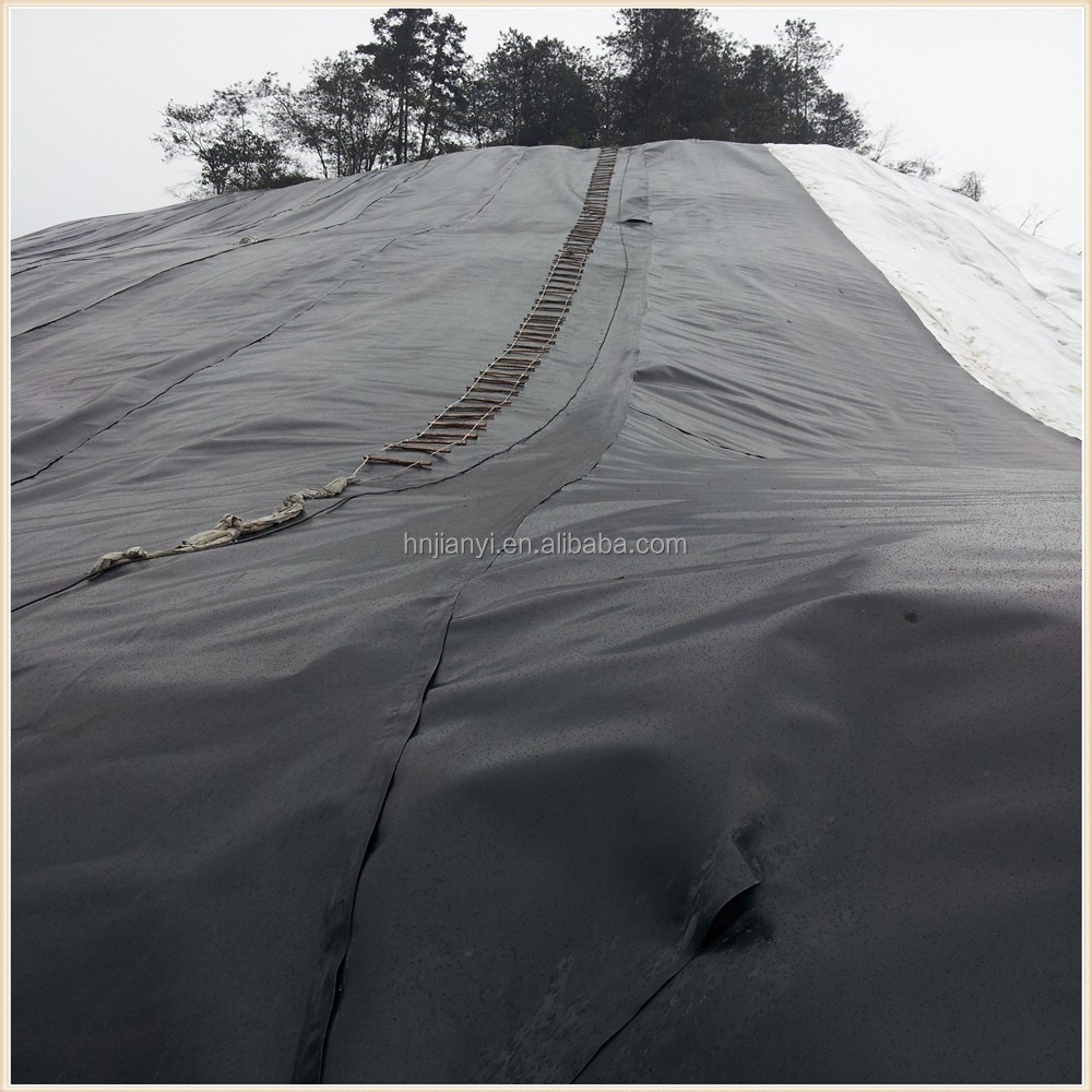 HDPE geomembrane liner,1.5mm smooth and black hdpe geomembrane liner for pond