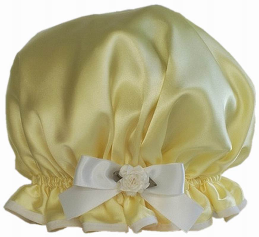 London Tender yellow Luxury Eco-Friendly Shower Cap