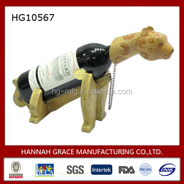 Modern Wooden Animal Wine Holder