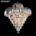 MEEROSEE Modern Crystal Chandeliers Home Lighting Lustres de Cristal Indoor Decoration Hanging lamp for Living Room MD85061