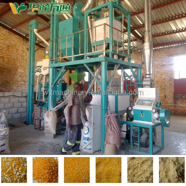 Hot sale mini flour mill plant for corn maize