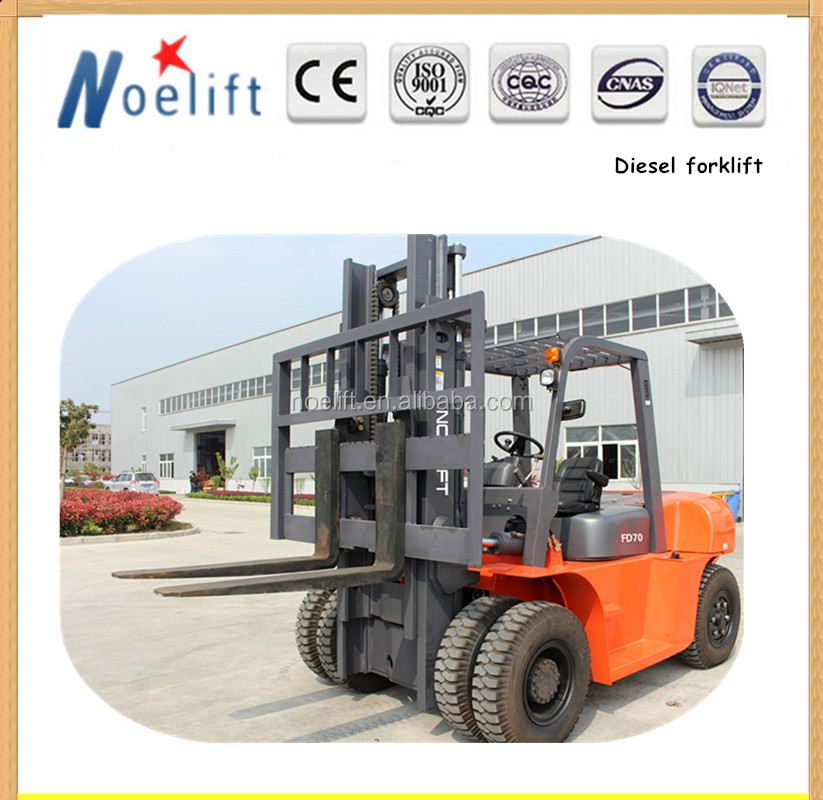 Handling equipment Lifting Machines Chinese Forklift 5 Ton 7 Ton Diesel Forklift Truck