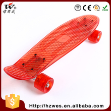 China Made Professional Top OEM PU Wheels ABS Fish Style Skateboard