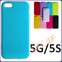 Wholesale Candy Color Solid Soft Glossy Jelly Rubber Silicone TPU Gel Back Case For iPhone 5 5S