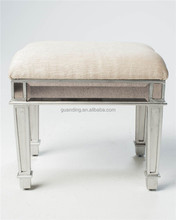 customized black top mirrored bedroom stool