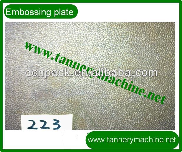 Embossing plate for kip pressing leather to embossing leather patterns