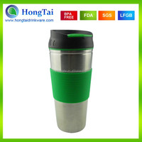 450ml New Design Customized Double Wall Lipton Leak Proof Thermal Mug with SS outer