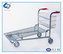 Four wheels warehouse cargo trolley for transporting