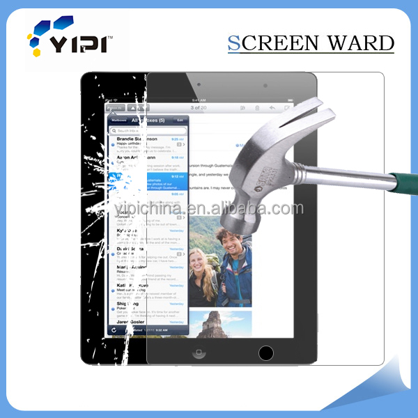 Professional factory tempered glass screen protector for ipad air