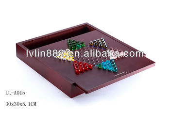 Popular strategy Chinese Checker Wooden Game box