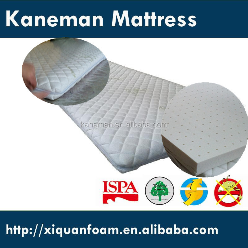 Thin natural latex knitted fabric zipper off removable cover mattress