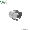 Stainless steel glass channel tube 2 way slot tube connector
