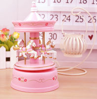 wooden musical box carousel wholesale