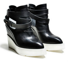 C26764A Latest Lady Genuine Leather Ankle Boots