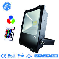 Outdoor IP65 waterproof color changeable with remote controller Christmas lighting 30w led flood light rgb