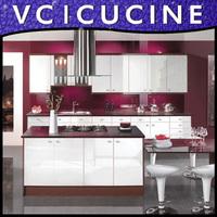 Foshan shunde high gloss white kitchen cabinet model