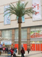 Guangzhou Manufacture plastic palm trees for sale for outdoor decoration