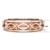 Wholesale Luxuries hollow plated rose gold copper rings for men and women