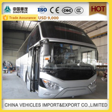 latest technology howo double decker bus for sale