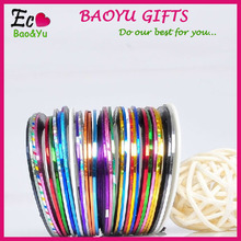 DIY Nail Art Decoration 3D colorful Nail Tape nail art stripe tape