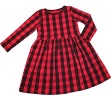 Latest design Baby Clothes Beautiful Children dress Long Sleeve red plain Baby Girl Winter Dresses