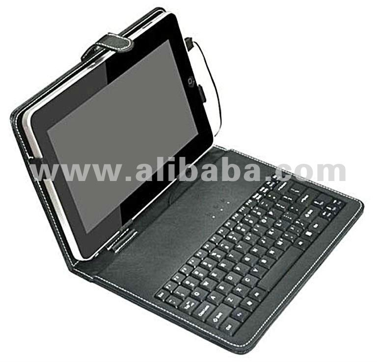 "PU Leather Portfolio Case with Mini USB Keyboard for 9.7"" Tablet PC"