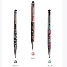 Beautiful crystal pen,retractable stylus pens for touch screens