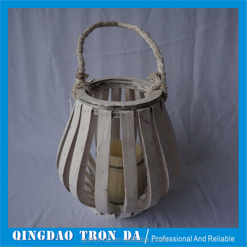 Wood material lantern for decoration