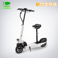 "10"" wheel hub motor electric scooter with seat"