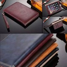 New Shockproof all protective tablet cover for ipad mini 4 , Hand strap card slots holder leather PU cover for ipad pro10.5