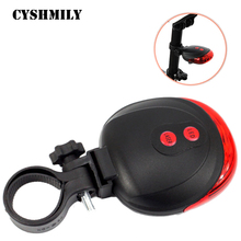 CYSHMILY 5 Led +2 laser Waterproof Cycling Safety Bicycle Rear Lamp Warning Bike Laser Tail Light