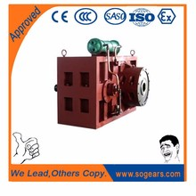 Coaxial motor with gearbox plastic sack packer
