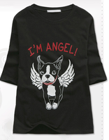 New arrival spring printing custom cotton t shirt for girls