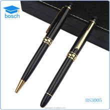 Corporate executive gift custom ball pen&roller pen metal pen set, wholesale gift items