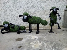High quality artificial milan grass topiary grass animals for decoration wholesale