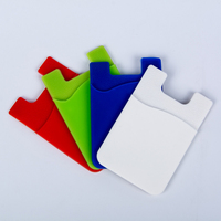 Personalized silicone 3m adhesive card holder