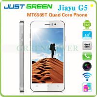 Best Price!! 4.5 Inch Jiayu G5 Quad Core MTK6589T Android 4.2.1 Dual SIM 3G Moblie Phone Support GPS Multi languages G-sensor