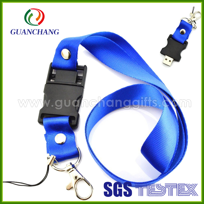 Wholesale Eco-friendly material premium best sale usb flash drive stick lanyard with fancy logo designs